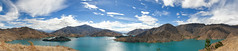 Lake Benmore seen from top of Benmore Peninsula, Otago, New Zealand, Mar 2013 (Clia Mendes Photography) Tags: blue newzealand sky mountains azul clouds landscape islands turquoise