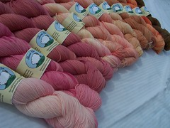 Pink, Orange, Brown Sock Yarn (ShearedBliss) Tags: wool yarn dye dyeing fiber handdyed fiberarts naturaldye