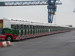 Stobart Port Widnes , All Quite On The Scania Front (Gary Chatterton) Tags: port transport cranes trucks trucking scania widnes containerport stobart eddiestobart tractorunit stobartgroup eddiestobarttrucksandtrailers stobartspotters widnesport stobartportwidnes