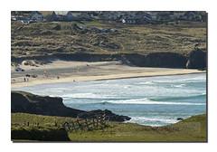 Gwithian (Simon Bone Photography) Tags: sea seascape beach coast sand cornwall farm shoreline cliffs coastal coastline godrevy gwithian beachscape hff sigma50500mm canoneos7d happyfencefriday wwwsimonbonephotographycouk
