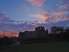 Photo of Sunset over Oystermouth Castle 5th April 2013 (1)