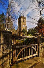 prestbury-church (petern1694) Tags: blue sky church clouds gate christianity villagechurch saintpeterschurch prestbury