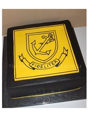 faithful (The Whole Cake and Caboodle ( lisa )) Tags: black cakes yellow cake fondant caboodle boyshighschool fideliter