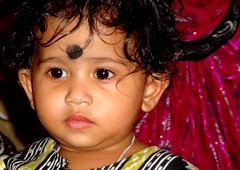 DSC00297 (Soumya Ganguly) Tags: travel portrait india face festival asia sony picture kolkata bengal dsc durga misti westbengal cutechild hx7v