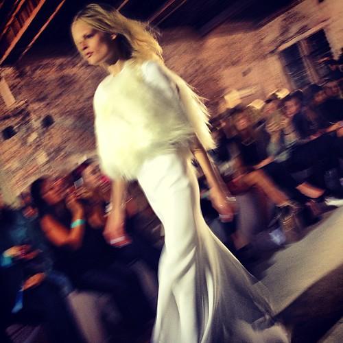 Hanne Gaby walks for @elleryland #mbfwa