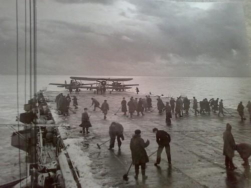 HMS Campania escorting Arctic Convoy © Roy Elwood