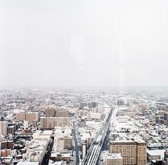 (masaaki miyara) Tags: winter snow tower 120 6x6 film window architecture mediumformat march sapporo hokkaido north rail 66 squareformat        hasselblad500cm  kodakportra400   2013