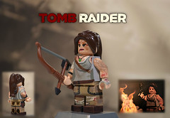 LEGO Tomb Raider : Lara Croft (MGF Customs/Reviews) Tags: roth island lego tomb lara croft figure custom raider