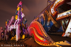 Boneyard 4 (James Neeley) Tags: nightphotography lightpainting lasvegas nevada boneyard lowlightphotography jamesneeley neonsignmuseum