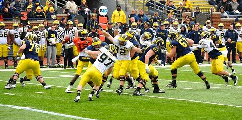 2013 Michigan football Spring Game at the Big House