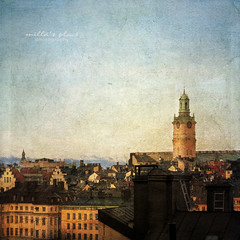 Roofs of Stockholm (Milla's Place) Tags: city windows church architecture buildings cityscape rooftops sweden stockholm roofs textures gamlastan oldtown chimneys textured millasplace magicunicornverybest besteverexcellencegallery
