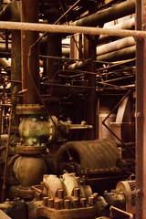 Sloss Furnaces 2013, densely packed machinery room (divemasterking2000) Tags: industry pig al birmingham iron industrial alabama landmark historic national april furnace ore apr birminghamal ironore sloss blastfurnace smelting pigiron furnaces slossfurnaces 2013 blastfurnaces