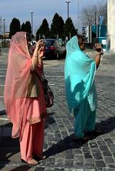 Lady photographers (Reinardina) Tags: women photographer duo faith religion colourful sikhism traditionaldress vaisakhifestival
