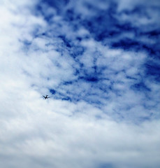 Fly away (Nada*) Tags: blue sky white mobile plane flying high phone telephone cell 4s iphone iphonegraphy instagram