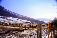 Machno Valley (Saturated Imagery) Tags: mountain snow film wales 35mm fence slidefilm e6 conwy moel canoneos300 cwmpenmachno kodakektachrome100g