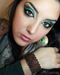 Green Eyes (LadyKiky) Tags: portrait woman selfportrait verde green eye girl beautiful beauty face make up look portraits intense eyes hand eyelashes makeup occhi autoritratto accessories arabian ritratto ragazza volto insenso trucco