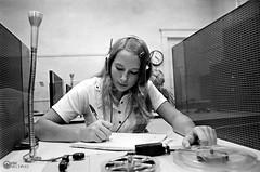 Foreign Language Lessons, 1972 (Valdosta State University Archives) Tags: students analog technology headphones 1970s 1972 recording classrooms valdostastatecollege
