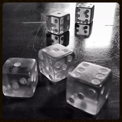 Tumbling Dice #MPro (Jesonis|Photography) Tags: blackandwhite bw stilllife dice square mono blackwhite squareformat product windowlight productphotography tablegames mpro iphoneography instagramapp uploaded:by=instagram rememberthatmomentlevel1