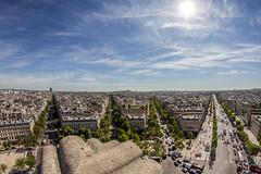 Vue depuis l'arc de triomphe (AntLab75) Tags: arcdetriomphe paris