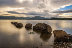 Loch Lomond (Nearing Sunset) (Uillihans Dias) Tags: uk sunset lake landscape scotland rocks unitedkingdom gb loch lochlomond trossachsnationalpark