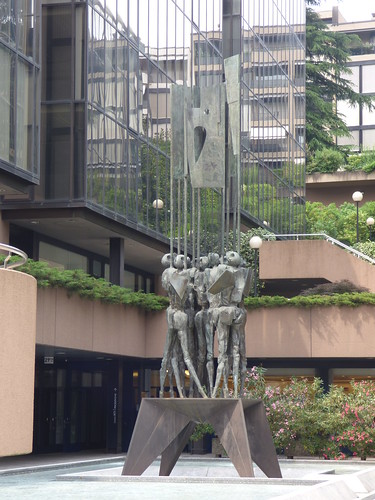 Via Cantonale, Lugano - BSi - sculpture