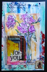 It's All About the Rose (opal c) Tags: sketch vase rosesinavase mixedmedia ink gouache