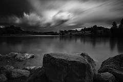 Black lake, white cloud (jarnasen) Tags: nikon d810 nikkor 1635mmf4 tripod longexposure le leefilters leesuperstopper superstopper nd15 ndfilter bnw mono monochrome blackandwhite svartvit lake lakescape cloud clouds landscape landskap noiretblanc nordiclandscape scandinavia sweden sverige lngexponering rocks surface extreme mood moody pov copyright jrnsen jarnasen trees farm explosion movingclouds movement afternoon september windy