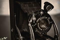 Camera (Marck Minieri) Tags: camera bw black white sepia seppia antique old