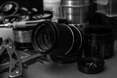 Carl Zeiss Tele Tessar HTF 135 mm f/ 4 (Lens a Lot) Tags: carl zeiss tele tessar htf 135 mm f 4 1974 | 6 blades iris qbm f4 manufactured for by voiglander west germany lenspicture made with voigtlander colorskoparex 35mm f28 1975 f56 japan black white depth field vintage manual german japanes prime fixed lens tool spare parts