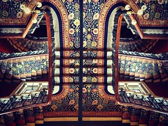 It's a long way down (badger_beard) Tags: midland grand hotel st saint pancras international renaissance london staircase stairs george gilbert scott victorian