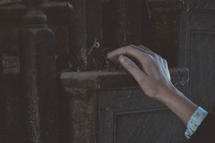 tumbl_nvculaKGJo1qg0st2o1_500 (smalltowngospels) Tags: staircase abandoned house floral wood dust cobwebs