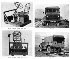 Military Vehicle Training Equipment in the 1950s, Bedford MW (buzzer999) Tags: bedford army military wwii truck drivertraining blackwhite monochrome film rollingroad waroffice