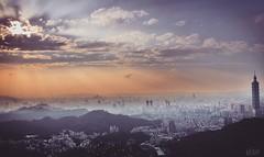 101 view from thumb mountain ..! (photomaster.shifu) Tags: taipei101 nature sunrays architecture nikon d5300 beautifultaiwan taiwan taipei landscape drama love sunlight colours thumb mountain