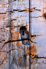 keyhole (Jackal1) Tags: keyhole texture wood metal decay 50mm canon rust rusty old aged weathered door