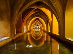 The Baths (BoN.cz) Tags: baths andalusia spain seville alczar alcazar water tanks pod pods reflection light underground reservoir history historical moorish spanish