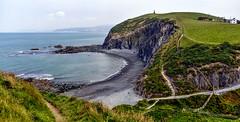 Round Wales Walk 42 - Footpaths (Nikki & Tom) Tags: walescoastpath ceredigion wales uk sea coast path track cliffs bay beach