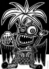 Cor de monstre 06 (Fernando Laq) Tags: monster monstruo monstre dibujo dibuix bn grises