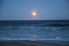 A full moon shines over Manasquan Beach and the Atlantic Ocean. (apardavila) Tags: fullmoon moon manasquan manasquanbeach atlanticocean jerseyshore