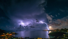 full moon lightning wide (muscapix) Tags: d300 105mm fisheye stbarthpicture stbarth stbarthelemy storm sbh nuit nocturne night nature lightning thunder weather rain pluie eclair orage tempette tempete tempte tempesta lectricit lment lectron cologie cosystme cloud nuage natura natural power climat mto meteo mer ocean ocano ocan sky ciel storme
