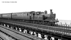 20/06/1963 - Ryde Pier, Isle of Wight. (53A Models) Tags: britishrailways adams lswr southernrailway o2 044t w14 fishbourne steam passenger rydepier isleofwight train railway locomotive railroad