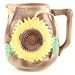 157. Majolica Sunflower Pitcher