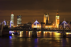 Westminster - Londres (louistib) Tags: londres pont angleterre nuit waterloobridge tamise grandebretagne longpose