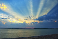 Radiant (Kansas Poetry (Patrick)) Tags: light kansas sunbeams clintonlake patrickadoresnancy
