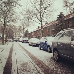 Snow again this morning (2012newborn) Tags: winter snow square squareformat rise heiloo winterinholland iphoneography instagramapp uploaded:by=instagram