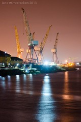 untitled-2 (ianrwmccracken) Tags: reflection night river scotland clyde lowlight industrial crane glasgow shipyard bae govan shipbuilding
