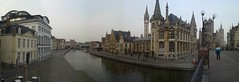 View from a bridge in Ghent