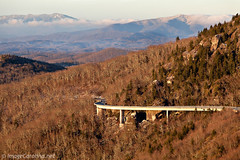 Linn Cove Winter (Daniel Burleson) Tags: winter mountains blueridgeparkway roan wnc grandfathermountain snowcappedmountains roughridge westernnorthcarolina linncoveviaduct blackmountainrange