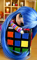 Cuboooooo! (fliki-mec) Tags: blue anime cute hair star doll manga puff dal full plushies lucky cube kawaii pullip custom kona izumi rubik raki suta konata konachan konakona