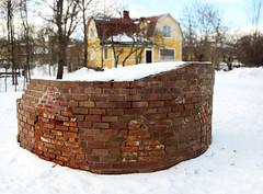 The Tower (Steffe) Tags: park winter sculpture snow art sweden bokeh bricks tungelsta haninge tornet bokehpanorama thebrenizermethod