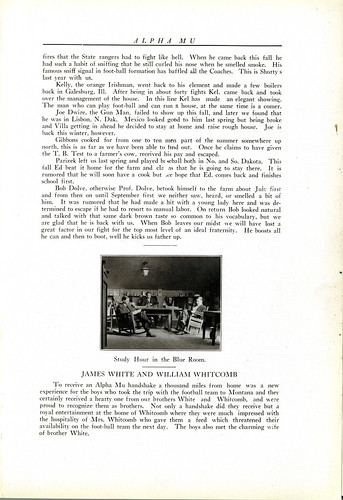 Alpha Mu yearbook, page sixty-six, 1915.